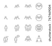 people icons line work group... | Shutterstock .eps vector #767469004