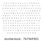 vector icons set   | Shutterstock .eps vector #767469301