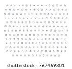 vector icons set   | Shutterstock .eps vector #767469301