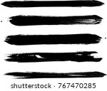 grunge paint stripe . vector... | Shutterstock .eps vector #767470285