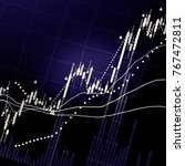 financial data on a monitor as... | Shutterstock . vector #767472811