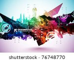 colorful abstract digital art | Shutterstock .eps vector #76748770