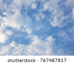 blue sky with fluffy cloud.... | Shutterstock . vector #767487817