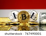 physical version of bitcoin ... | Shutterstock . vector #767490001