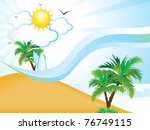 abstract clean summer holiday... | Shutterstock .eps vector #76749115