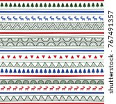seamless christmas pattern... | Shutterstock .eps vector #767491357