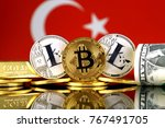 physical version of bitcoin ... | Shutterstock . vector #767491705