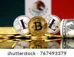 physical version of bitcoin ... | Shutterstock . vector #767493379