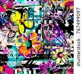 seamless geometric pattern... | Shutterstock .eps vector #767499097
