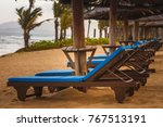 Wooden Reclining Sunbeds With ...