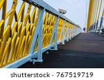 Steel Fences With Gold Color...