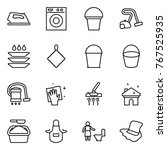 thin line icon set   iron ... | Shutterstock .eps vector #767525935