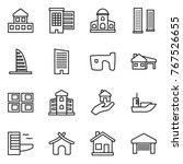 thin line icon set   cottage ... | Shutterstock .eps vector #767526655