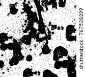 black and white grunge...   Shutterstock .eps vector #767528299
