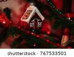 the photo new year  toy ... | Shutterstock . vector #767533501