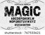 vintage font alphabet...   Shutterstock .eps vector #767533621