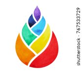 7 color of chakra symbol... | Shutterstock . vector #767533729