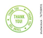 thank you vector stamp | Shutterstock .eps vector #767538931