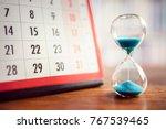 Hour Glass And Calendar Concep...