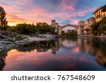 mostar  old city in bosnia | Shutterstock . vector #767548609