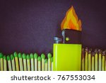 background with a burning... | Shutterstock . vector #767553034