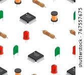 vector seamless pattern of... | Shutterstock .eps vector #767557675