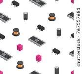 vector seamless pattern of... | Shutterstock .eps vector #767557681