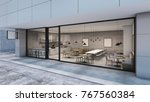 front view cafe shop  ... | Shutterstock . vector #767560384