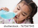young asian girl sick kids... | Shutterstock . vector #767567545