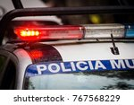 police car with sirens | Shutterstock . vector #767568229
