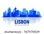 lisbon   portugal   skyline... | Shutterstock .eps vector #767570029