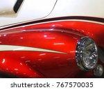 close up of vintage sport car