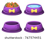 Set Of Dog Food Bowls Dry Food...