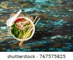 traditional vietnamese soup pho ...   Shutterstock . vector #767575825