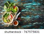 traditional vietnamese soup pho ... | Shutterstock . vector #767575831