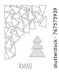 christmas tree.stock vector. | Shutterstock .eps vector #767575939
