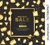 holiday sale vector banner with ... | Shutterstock .eps vector #767580967
