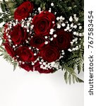 Stock photo red roses bouquet 767583454