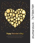 valentines day vector greeting...   Shutterstock .eps vector #767584789