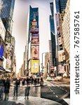 new york city  usa   october 20 ... | Shutterstock . vector #767585761