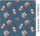 christmas seamless pattern ...   Shutterstock .eps vector #767588221