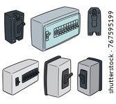 vector set of breaker switch | Shutterstock .eps vector #767595199