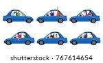 drunk in car set | Shutterstock .eps vector #767614654