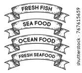 sea food  ocean fresh seafood... | Shutterstock .eps vector #767615659