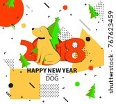 happy new year backgrouns.  | Shutterstock .eps vector #767623459