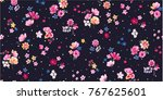 Stock vector seamless trendy floral print patern design 767625601