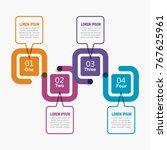 infographic template. vector... | Shutterstock .eps vector #767625961