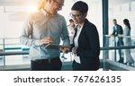 business people working... | Shutterstock . vector #767626135