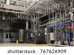 industrial piping system | Shutterstock . vector #767626909