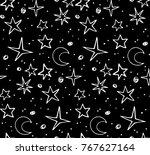 star background white black ... | Shutterstock .eps vector #767627164